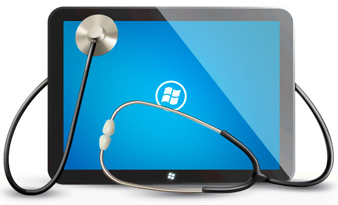 Cardiofit - Tela do Tablet Windows